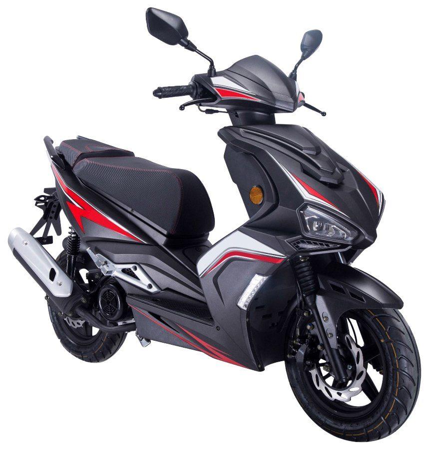 GT UNION Motorroller »Striker«, 125 ccm, Euro 4, schwarz