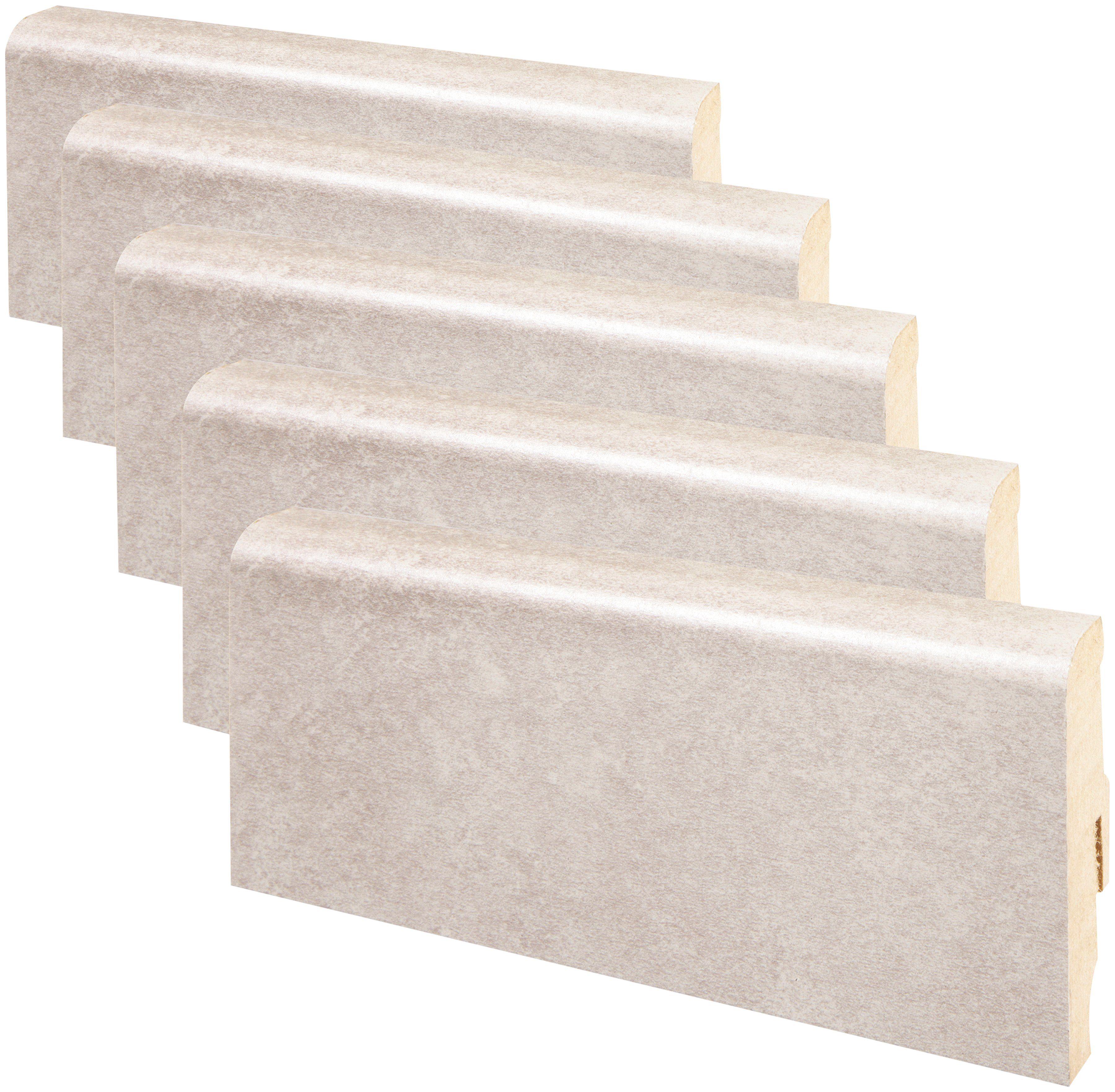 MODERNA Sockelleiste »Designfußleiste DFL 60 - Sandstein«, 5er-Pack, Höhe: 6 cm