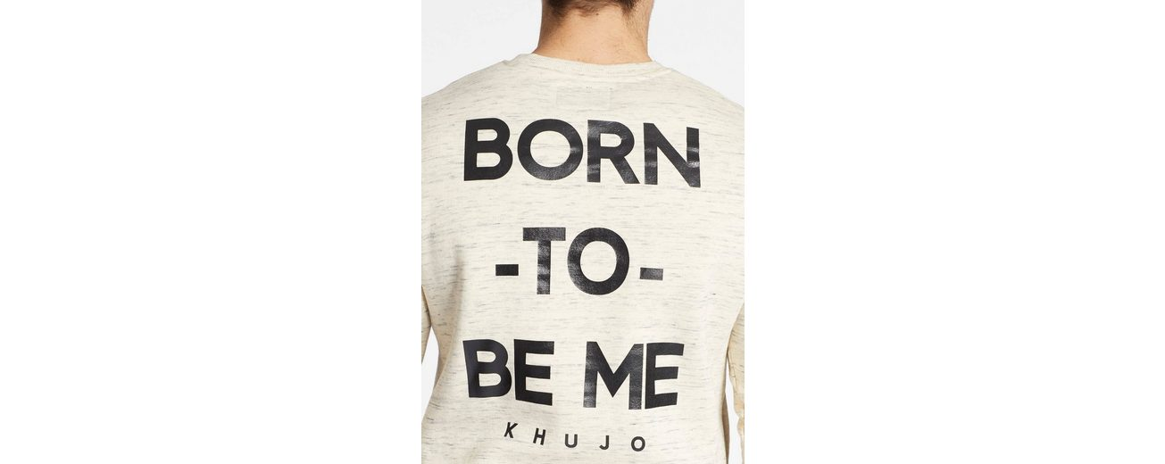 khujo Sweatshirt VICTOR, mit Print auf dem Rücken