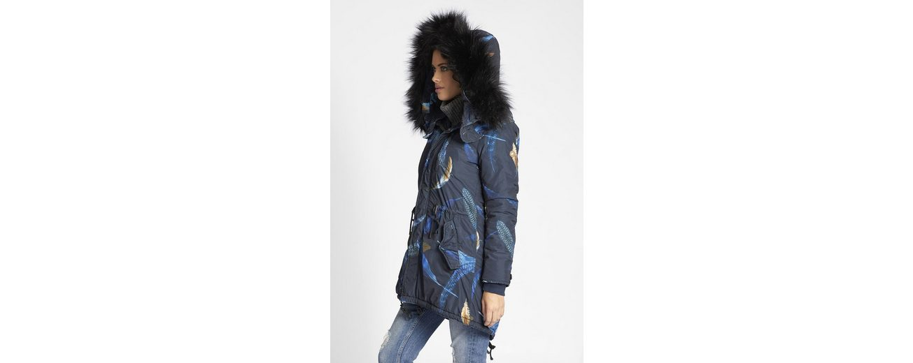 khujo Wintermantel TIMEA WITH INNER JACKET, mit All-over Print