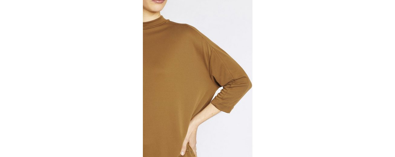 khujo Oversize-Shirt SHANO, in gläzendem Stretch-Material