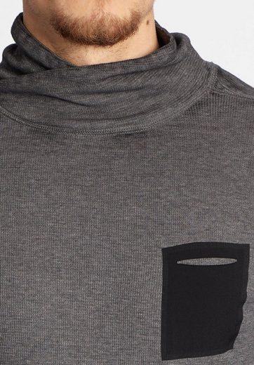 khujo Langarmshirt TASKAR, mit Brusttasche