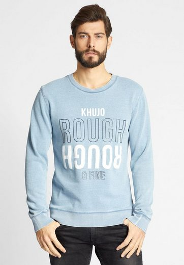 Khujo Sweatshirt Willy, Print On The Front