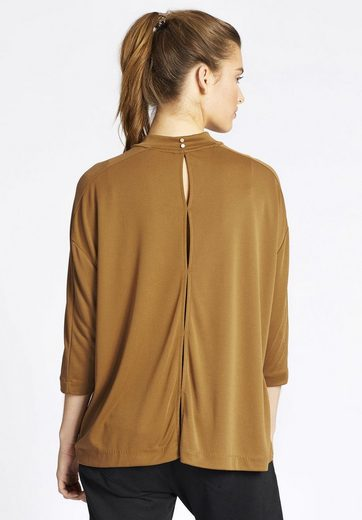 Khujo Oversize-shirt Shano, En Tissu Stretch Gläzendem