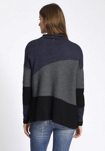 khujo V-Ausschnitt-Pullover JURIA, mit Schnürung am Ausschnitt