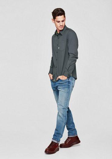 s.Oliver RED LABEL Slim: Glattes Stretch-Hemd