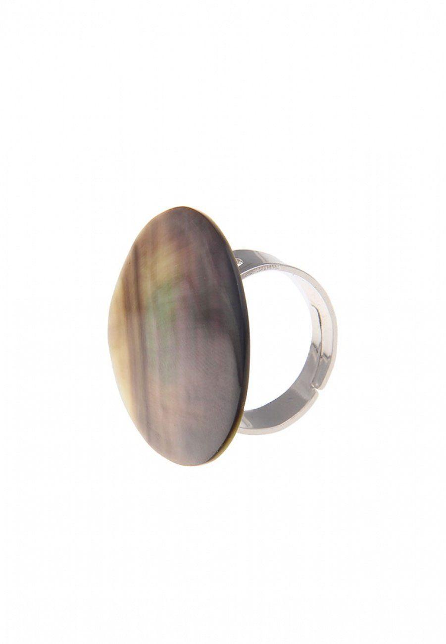 Leslii Ring mit Blacklip-Muschel-Scheibe