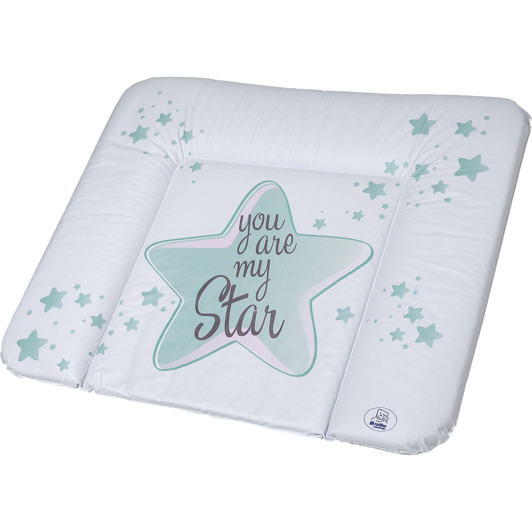 Rotho Babydesign Wickelauflage, You are my Star, swedish green, 85 x 72 cm