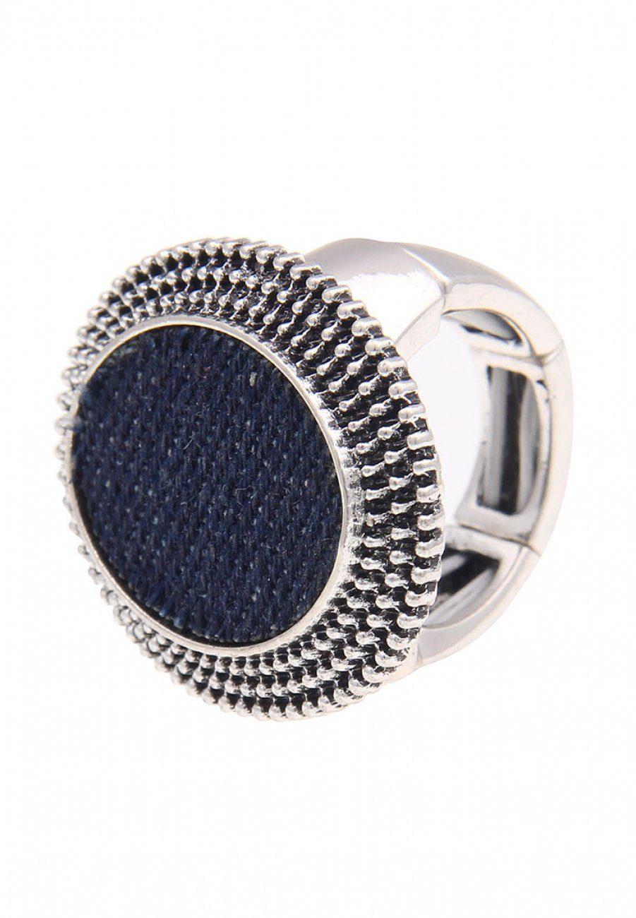 Leslii Ring mit überzogenem Jeansstoff