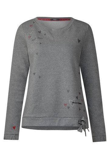 CECIL Sweatshirt mit Herzprint