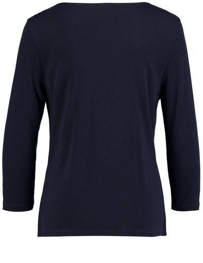 Gerry Weber T-Shirt 3/4 Arm 3/4 Arm Shirt mit Wasserfallausschnitt