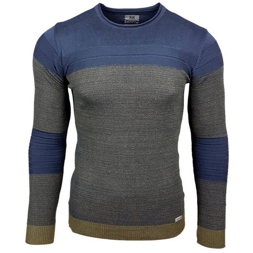 Rusty Neal Strickpullover in Colour-Blocking-Optik