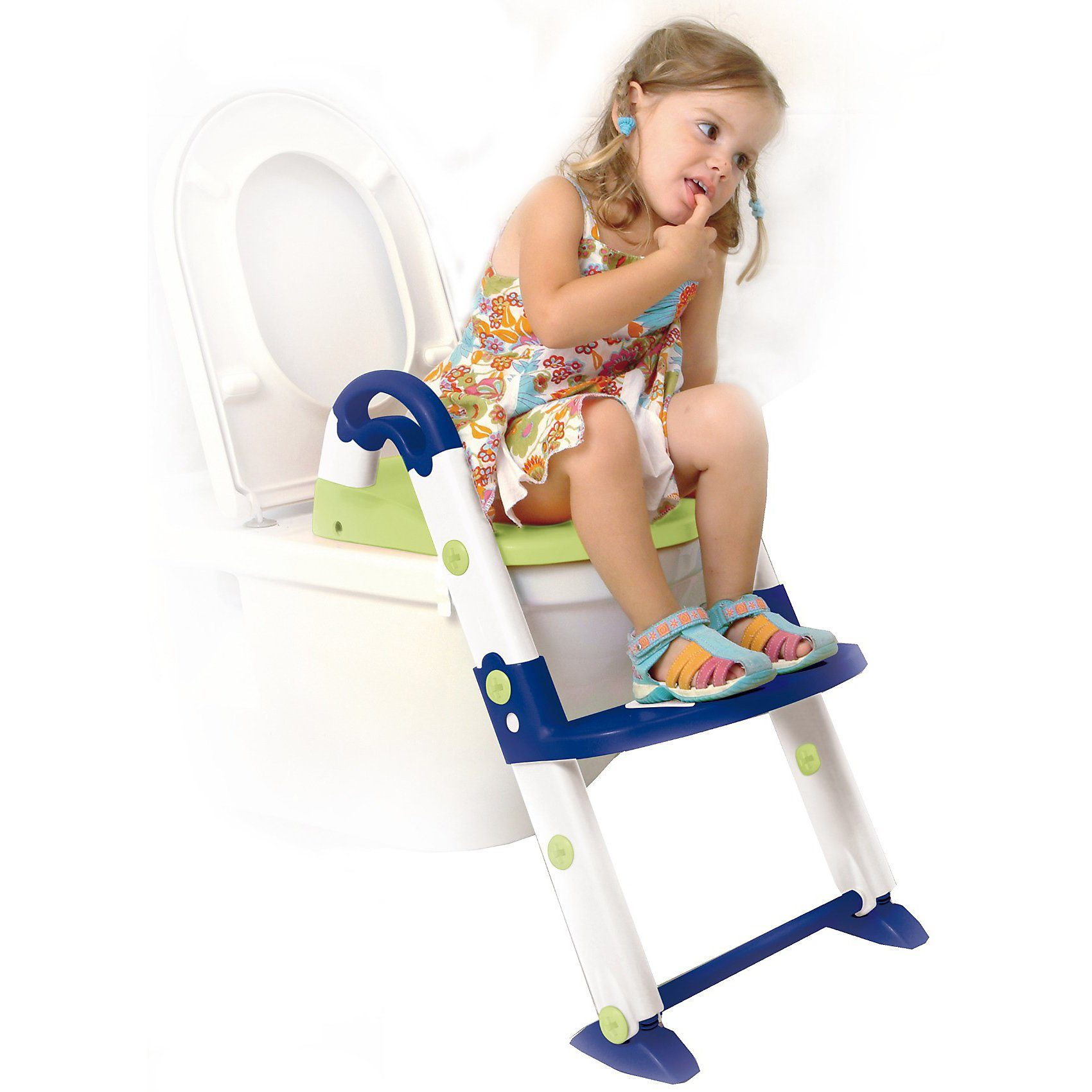 KidsKit Toilettentrainer 3 in 1, blau / weiß / lindgrün