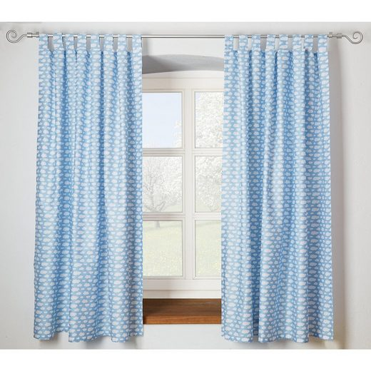MyToys-COLLECTION ALVI Vorhang Set Wolke, blau, je 130 x 150 cm (2 Schals)