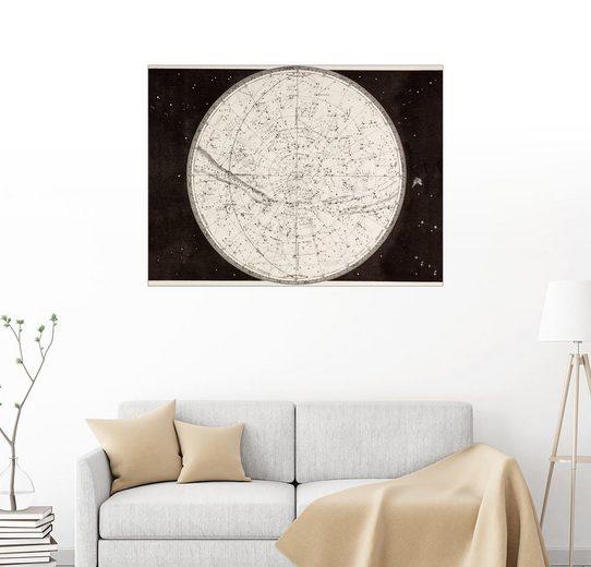 Posterlounge Wandbild - Ken Welsh »Karte des nördlichen Himmels«