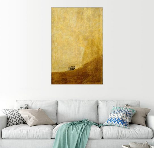 Posterlounge Wandbild - Francisco José de Goya »Hund«