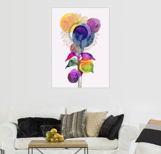 Posterlounge Wandbild - Janet Broxon »Sonnenblume abstrakt«