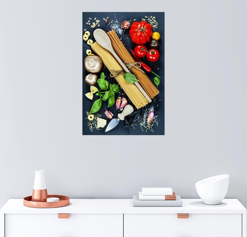 Posterlounge Wandbild »Italienische Küche« | Dekoration | Holz | Posterlounge