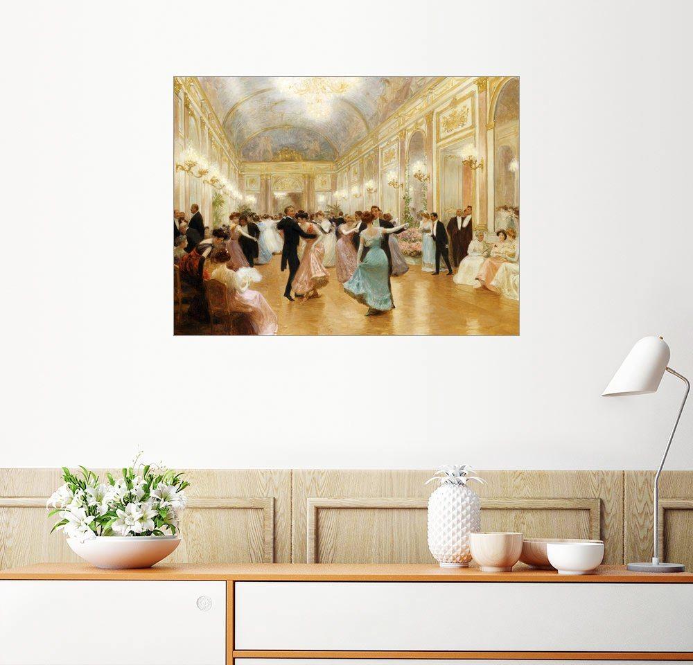Posterlounge Wandbild - Victor Gabriel Gilbert »Der Ball« | Dekoration > Bilder und Rahmen > Bilder | Holz | Posterlounge
