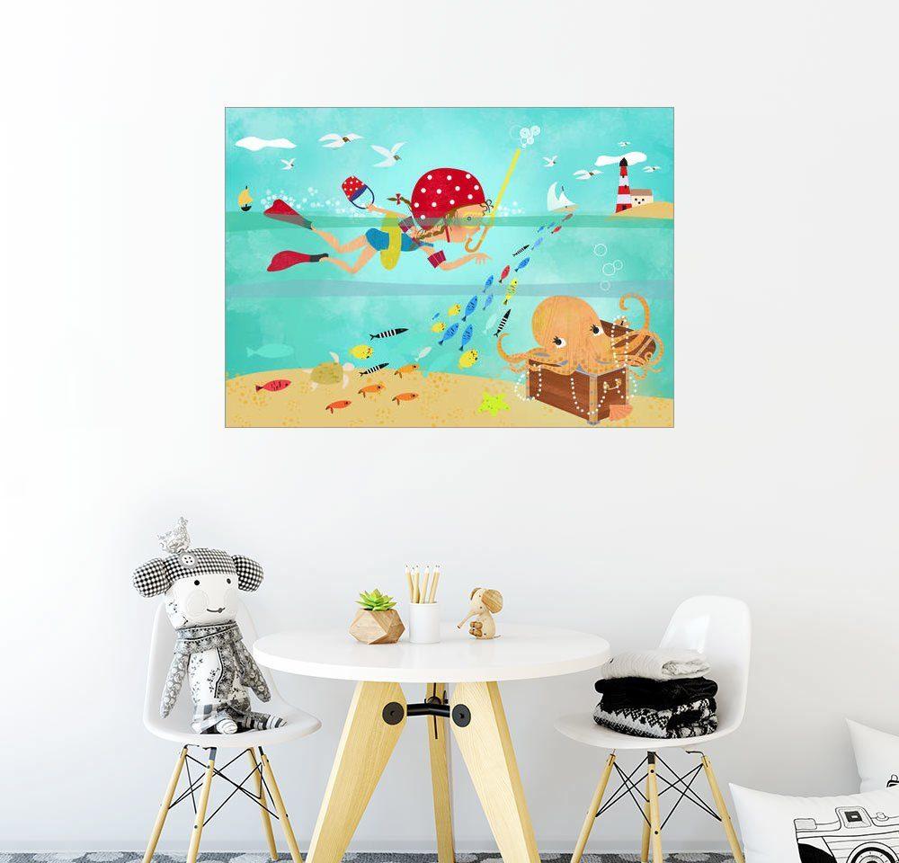 Posterlounge Wandbild - Elisandra Sevenstar »Emma und die Krake«