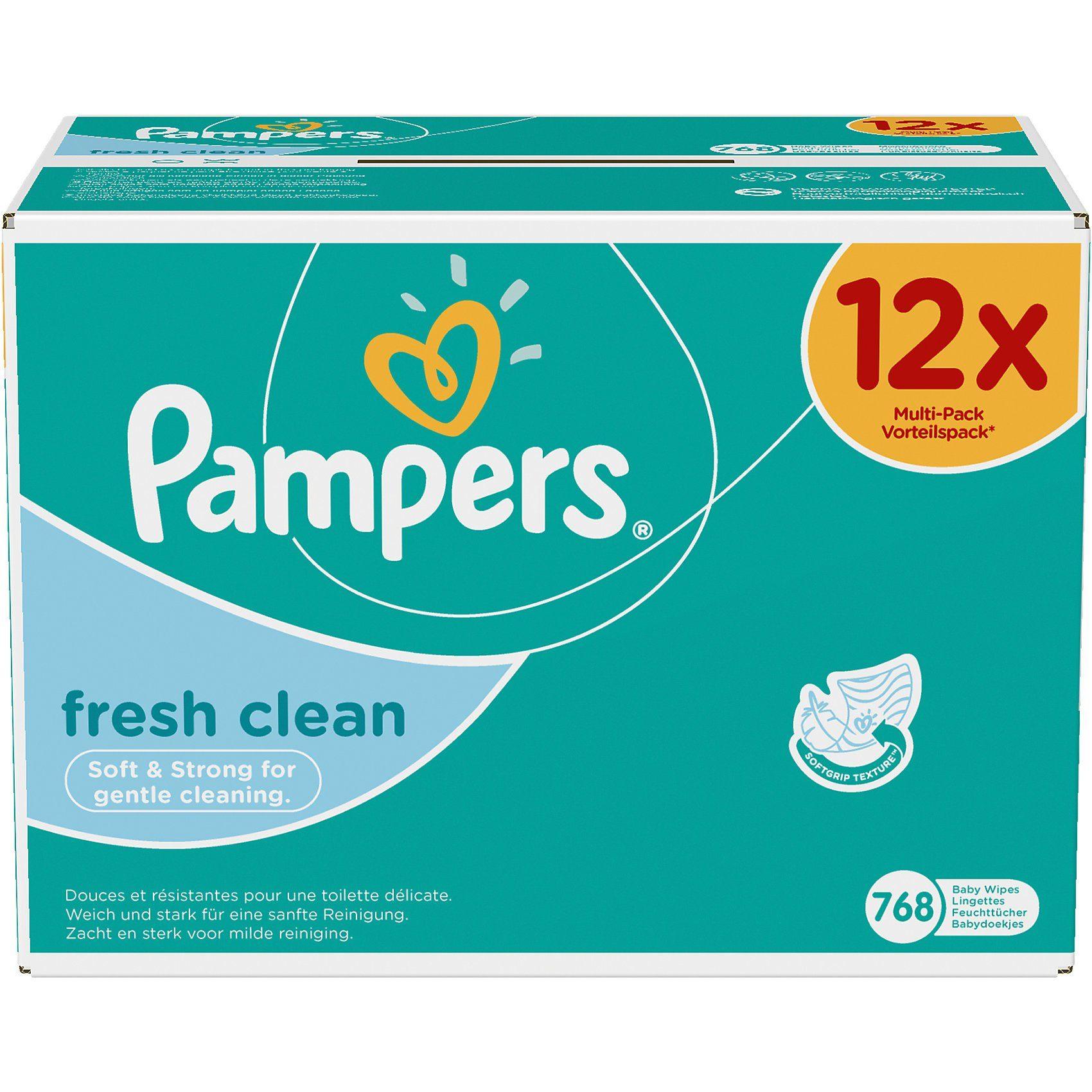 Pampers 12x64 (768) Stück Feuchttücher Fresh Clean Vorteilspack Gig