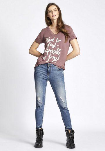 khujo T-Shirt DRENZA, mit Print auf der Front