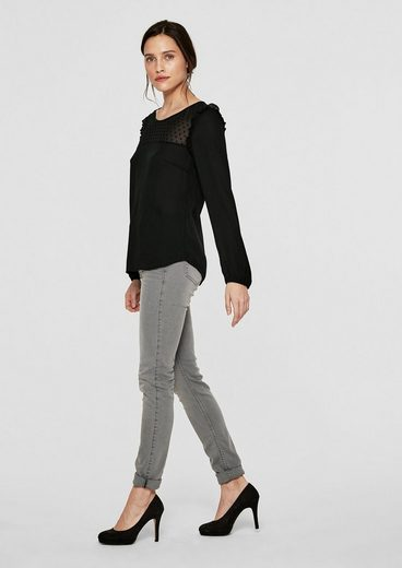S.oliver Black Label Frilly Blouse In Boho-style