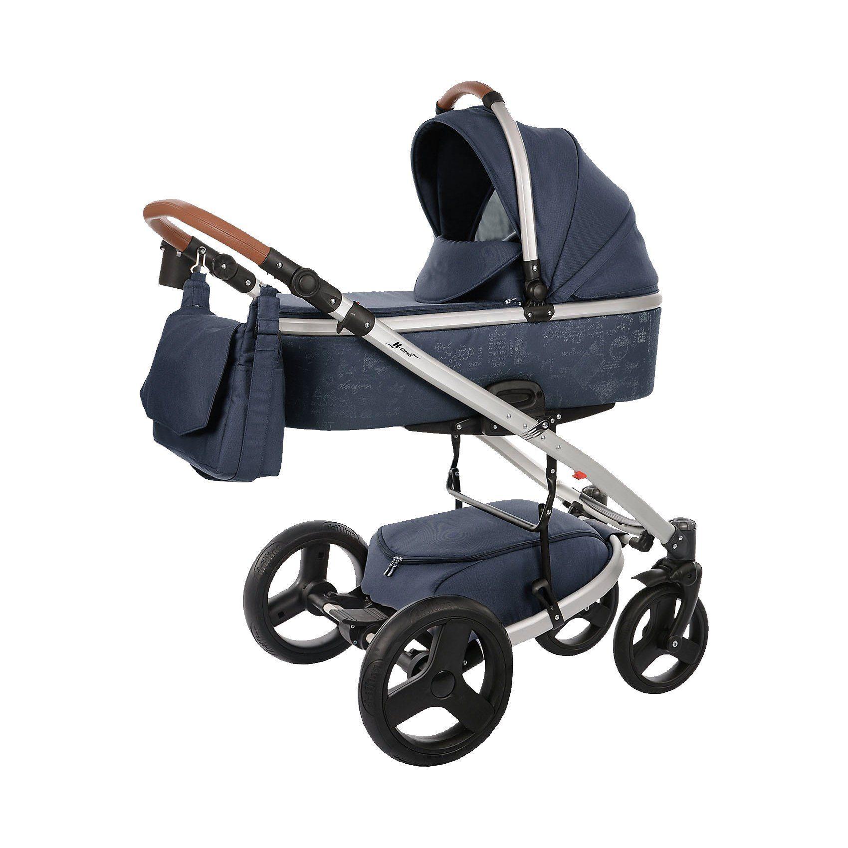 knorr-baby Kombi-Kinderwagen K-One Script, blau