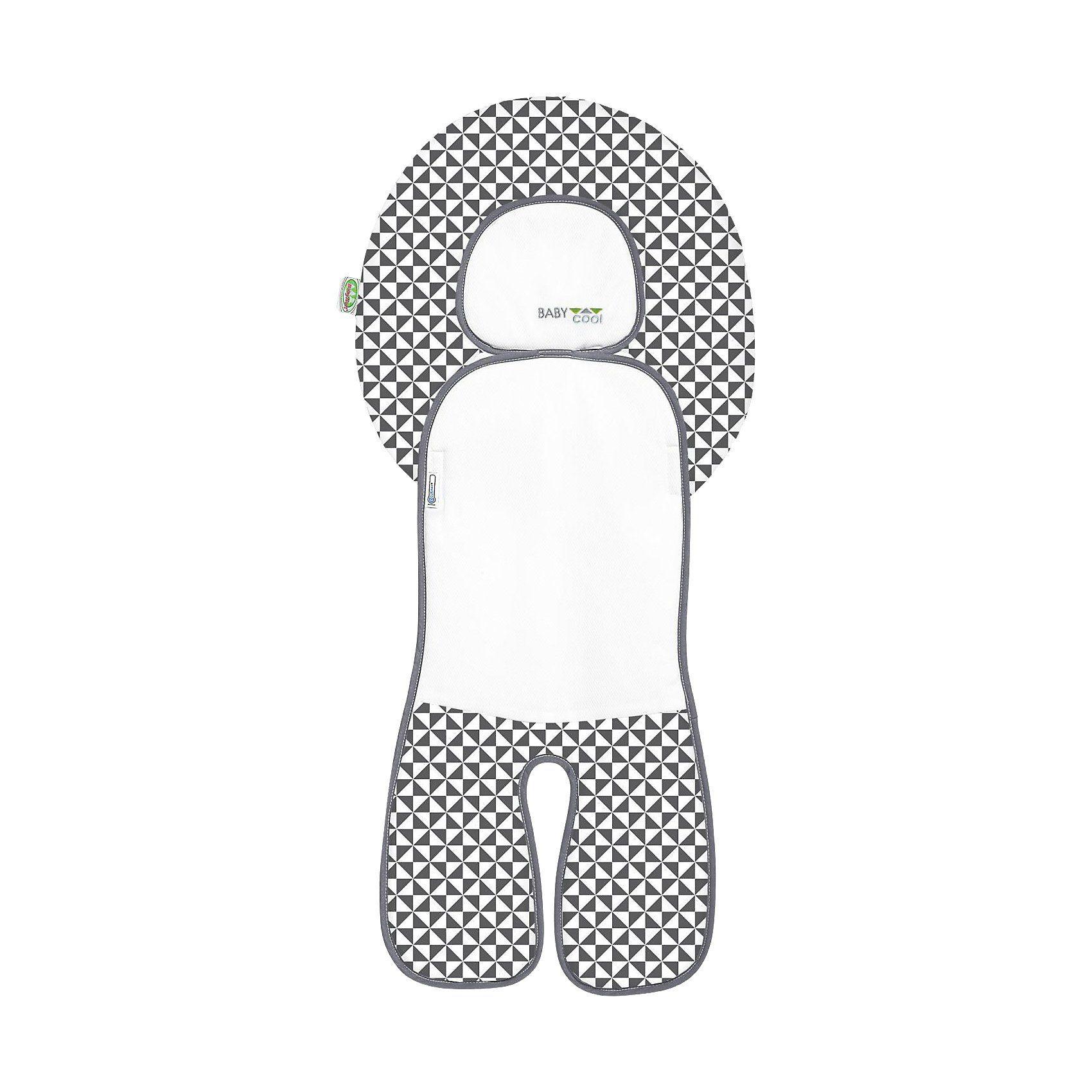 Odenwälder Babycool Auflage für Autositze, grau