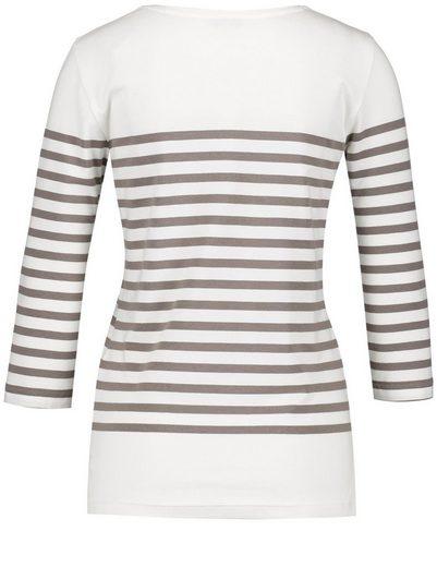Gerry Weber T-Shirt 3/4 Arm 3/4 Arm Shirt mit Ringelpart