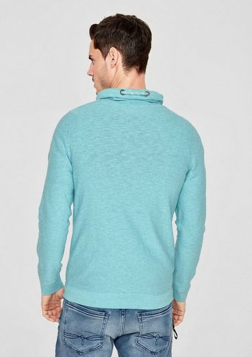 s.Oliver RED LABEL Melierter Turtleneck-Pullover