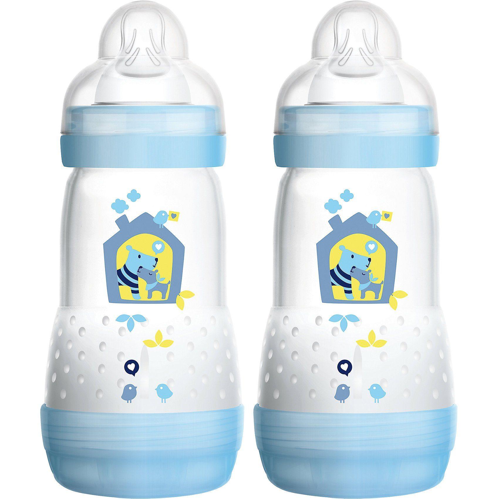 MAM Weithals Flasche Anti-Colic, PP, 260 ml, Silikonsauger, Gr.