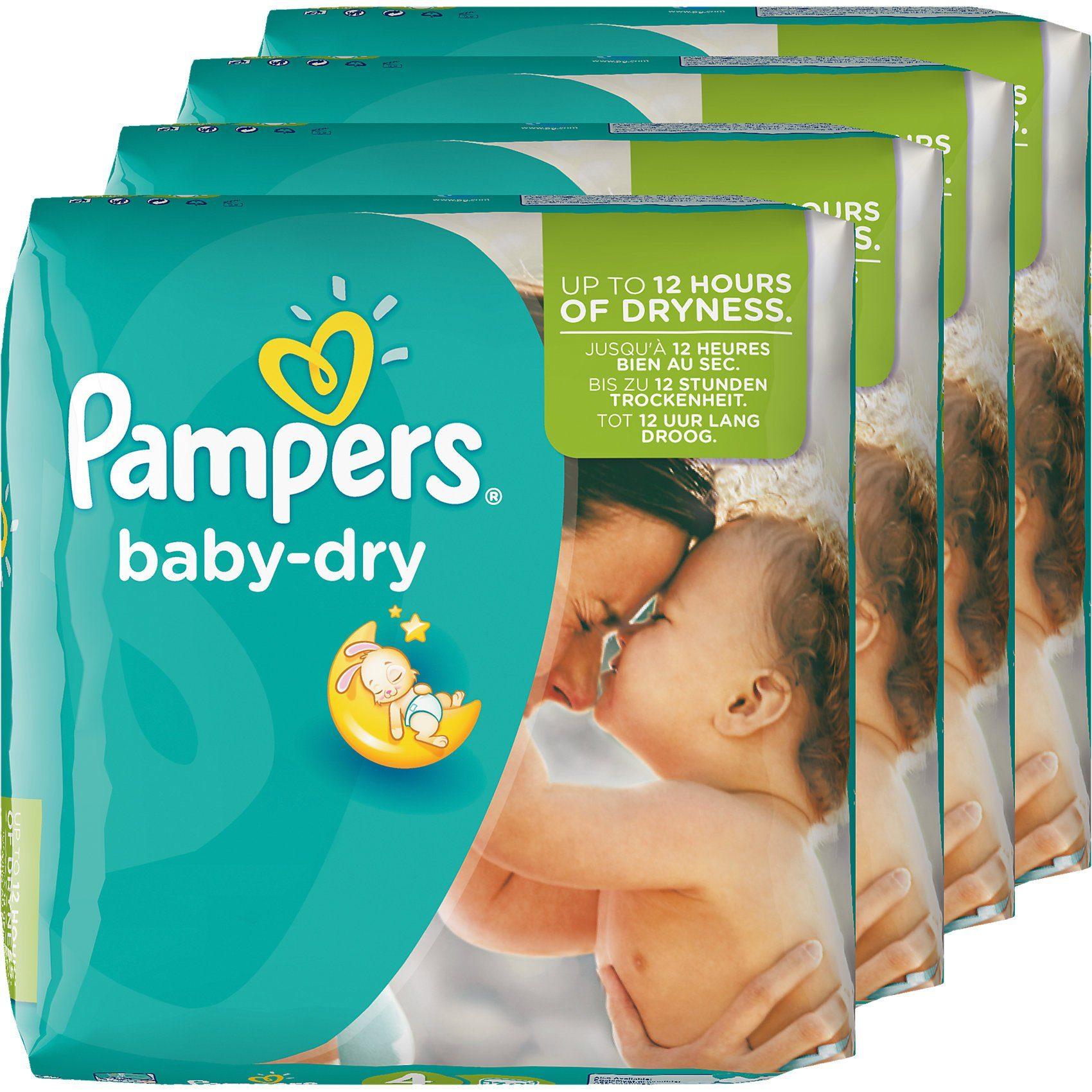 Pampers 1x174 Stück Baby Dry Gr.4 Maxi 8-16 kg MonatsBox