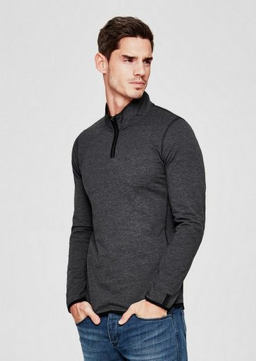 s.Oliver RED LABEL Longsleeve im Athleisure-Look