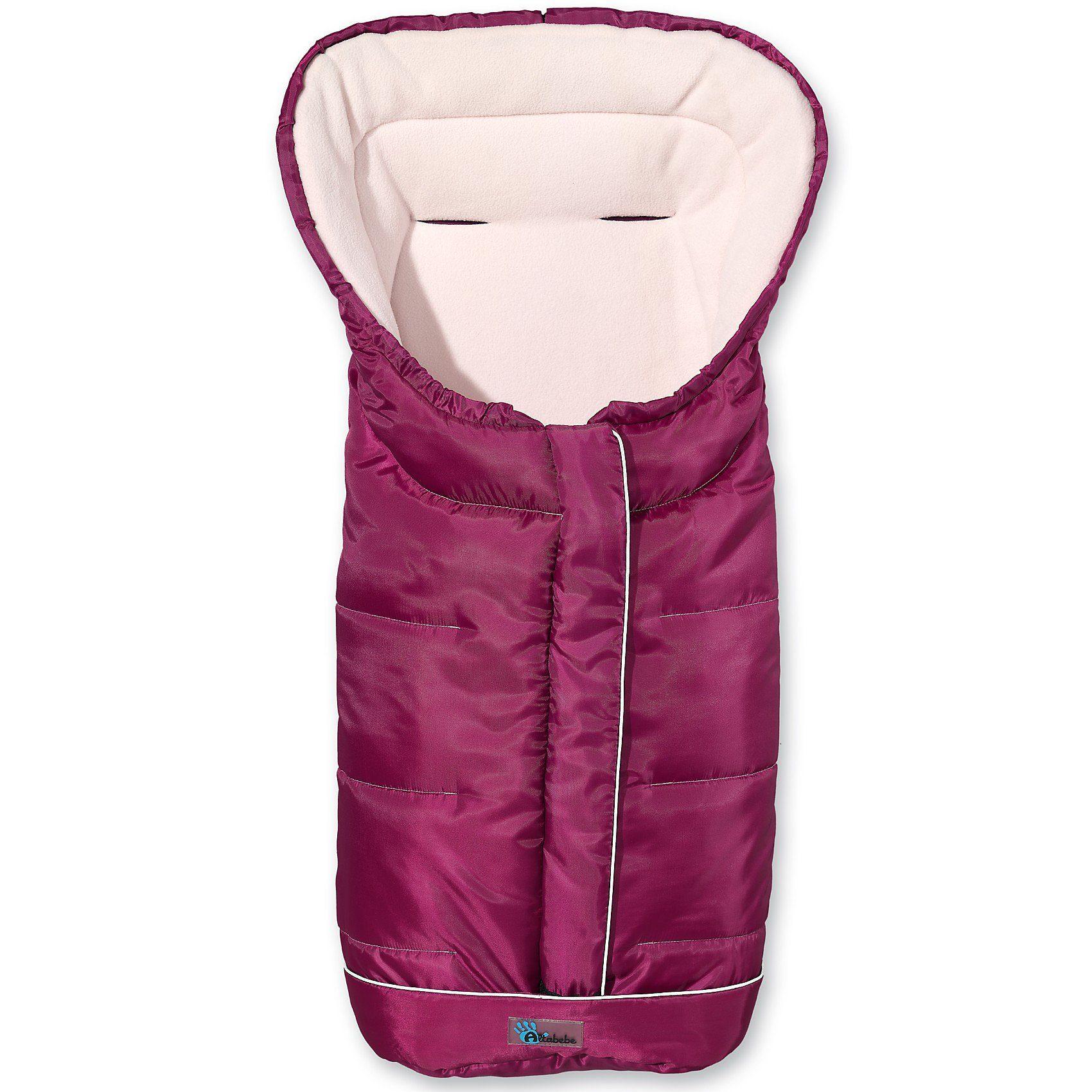 Altabebe Fußsack Fleece mit Reflektorstreifen und ABS, pflaume
