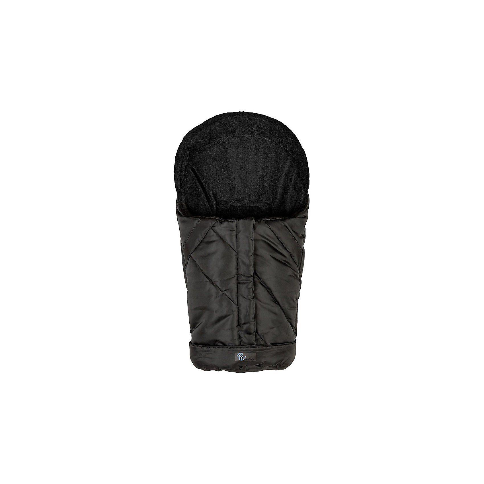 Altabebe Fußsack Fleece für Babyschale und Kinderwagen, schwarz