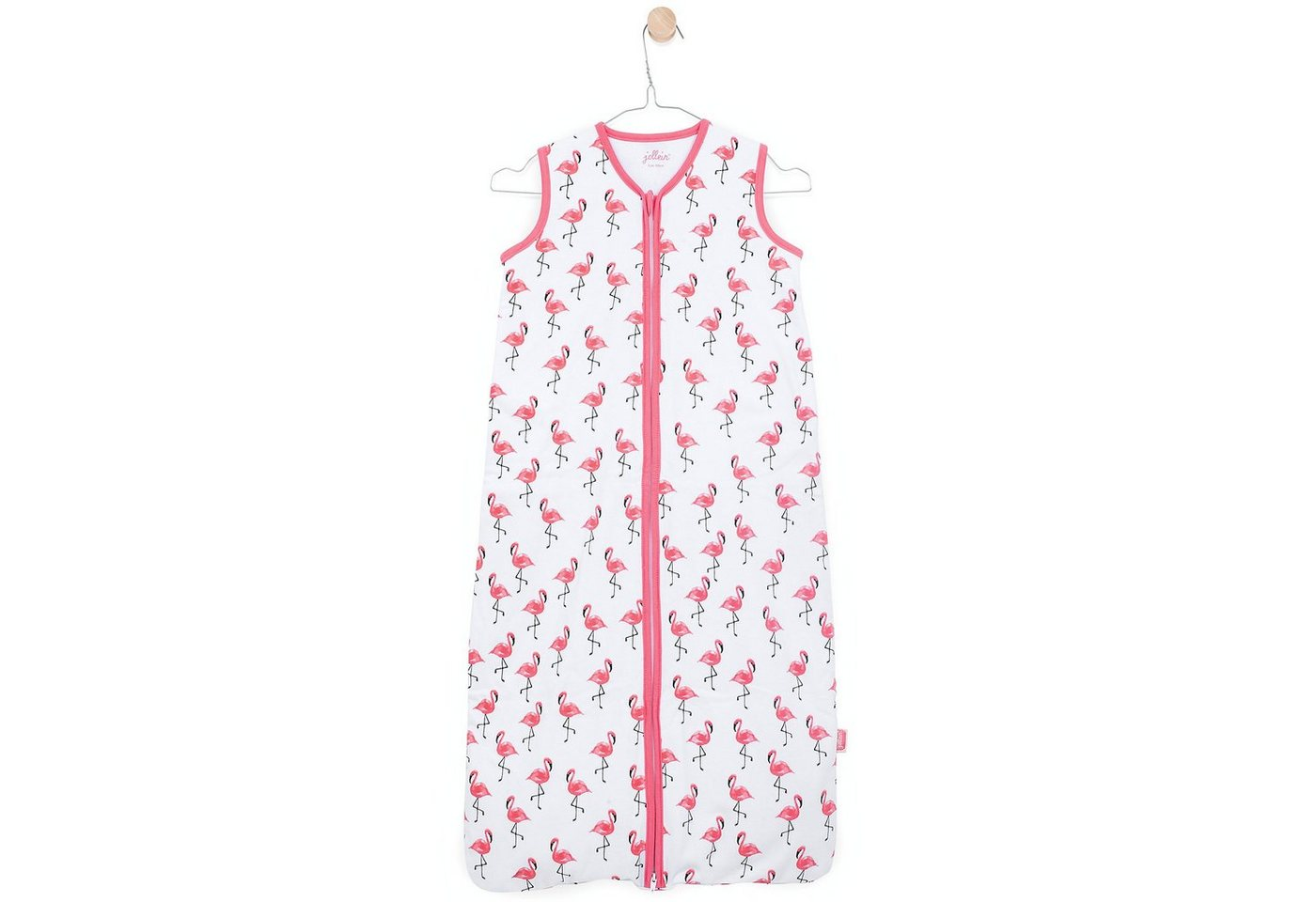 Jollein Sommer- Schlafsack Flamingo, Jersey | Baumarkt > Camping und Zubehör > Schlafsäcke | Rosa | Jollein