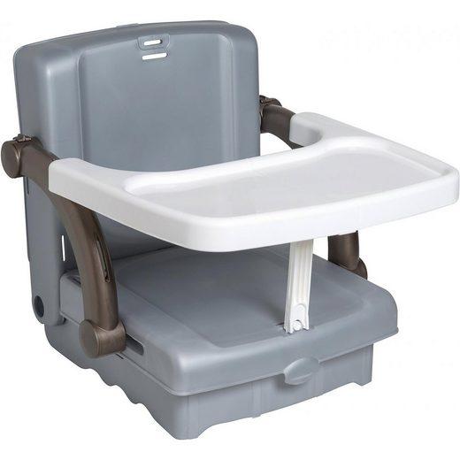 KidsKit Babystuhlsitz, silbergrau / weiß / taupe