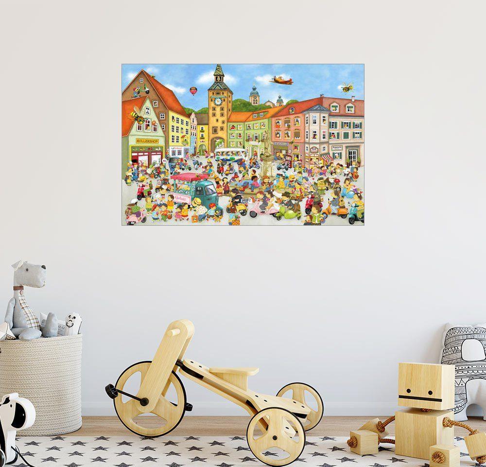 Posterlounge Wandbild - Marion Krätschmer »Sommer in der Stadt«