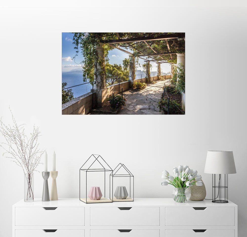 Posterlounge Wandbild - Christian Müringer »Garten der Villa San Michele auf Capri (Italien)« | Dekoration > Bilder und Rahmen > Bilder | Holz | Posterlounge