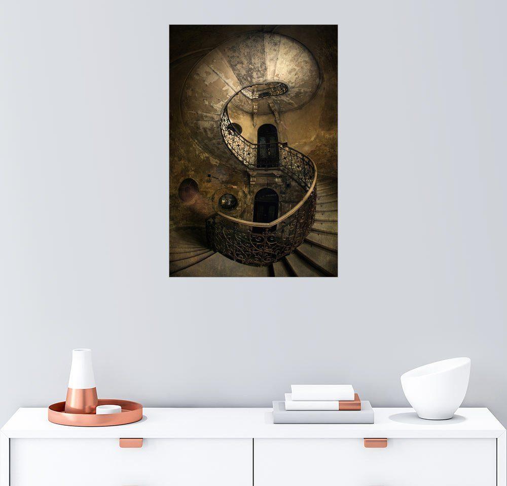 Posterlounge Wandbild - Jaroslaw Blaminsky »Alte Wendeltreppe«
