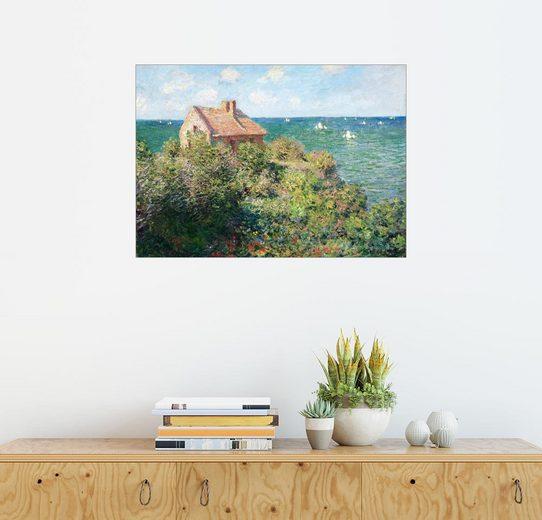 Posterlounge Wandbild - Claude Monet »Zöllnerhaus des Fischers b. Varengeville«