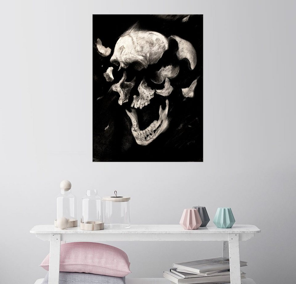 Posterlounge wandbild sergio barrale totenkopf studie - Totenkopf wandbild ...