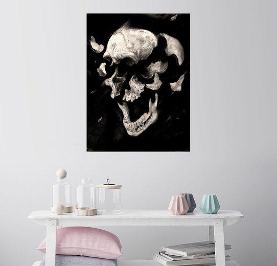 Posterlounge Wandbild - Sergio Barrale »Totenkopf Studie«