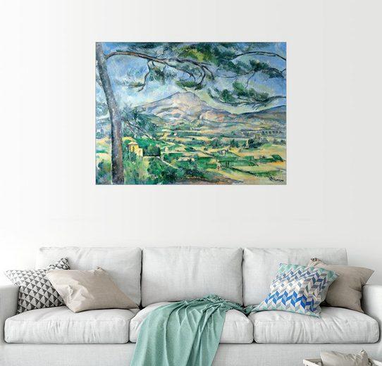 Posterlounge Wandbild - Paul Cézanne »Montagne Sainte-Victoire mit Kiefer«