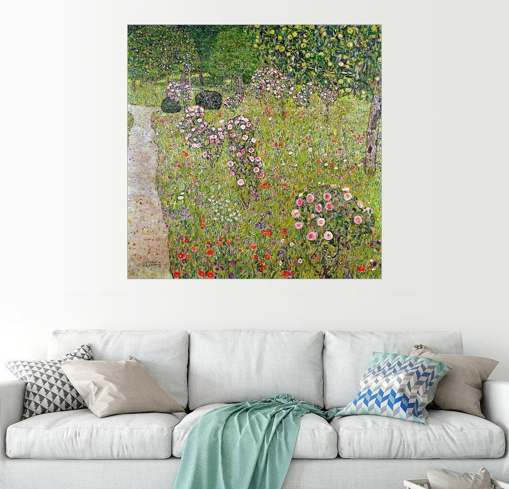 Posterlounge Wandbild - Gustav Klimt »Obstgarten mit Rosen« | Dekoration > Bilder und Rahmen > Bilder | Holz | Posterlounge
