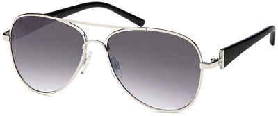 styleBREAKER Sonnenbrille »Getönte Piloten Sonnenbrille mit Strass« Getönt