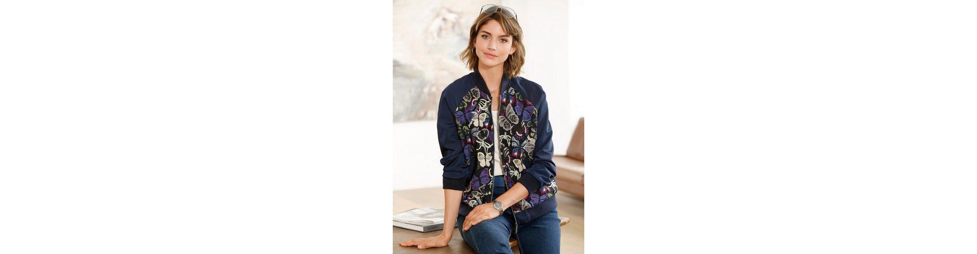 Mona Blouson mit edler Spitze Freies Verschiffen Preiswerter Preis Neue Stile Online Verkauf k4jR6
