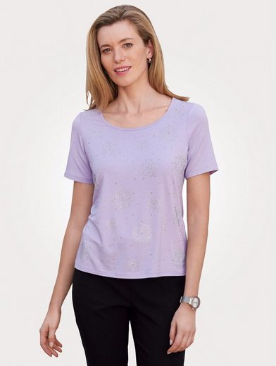 Mona Shirt mit Strass-Steinen und Zierplättchen