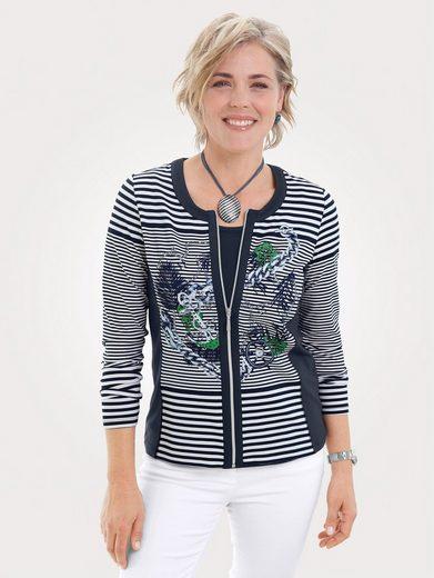 Mona Shirtjacke mit platziertem Druckmotiv